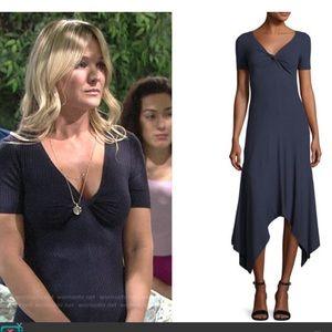 A.L.C Reva blue ribbed knot dress size S